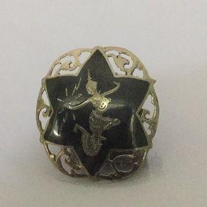 Jewelry - Vtg.Siam(Thailand)Neilloware.925 Round Brooch